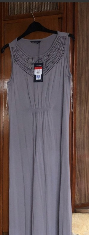 M&S collection grey maxi dress