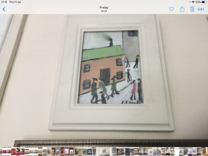 Oil painting signed after L S Lowry 11in 9in