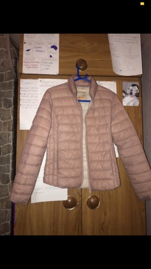Rosy Pink Puffer Jacket/Coat. Size XS