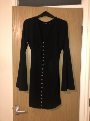 Missguided size 10 button up dress