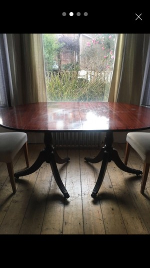 Varnished Wooden Table