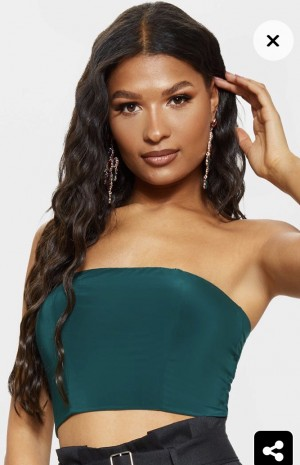 Emerald bandeau top