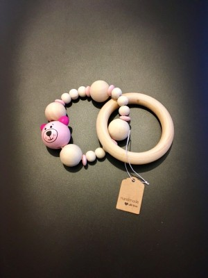 Handmade wooden teething ring/infant toy