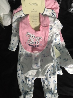 Baby girls first size 7 piece set