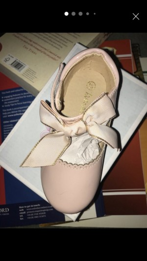 3x Velcro Baby Pink Patent Shoes
