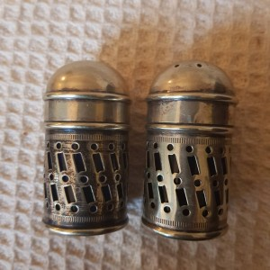 Salt And Pepper Shakers ESPN with Blue Liners