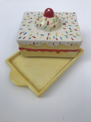 Quirky butter dish