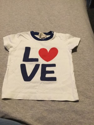 Baby Boys H&M Love Top - Aged 4-6 Months