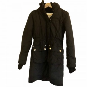 Blend Collection Black Long Ladies Winter Jacket Parka Hooded Zip Fron