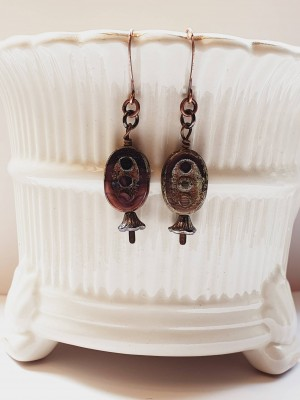 Dangly picasso beaded earrings