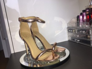 Size 5, missguided rose gold brand new heels