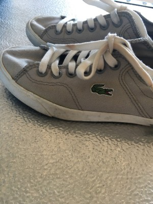 Lacoste trainers. Size 3. Pick up Ub7