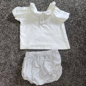 Girls collar top and shorts