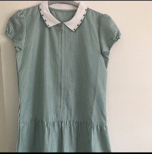 Green school summer uniform