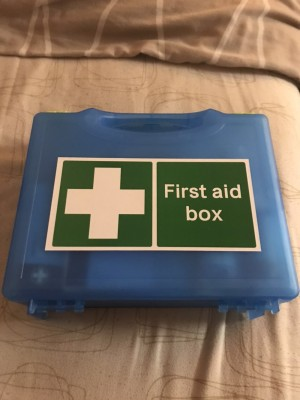 Catering first aid kit all blue