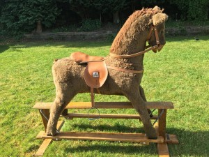 Selling this gorgeous, soft children's indoor horse. Bought from Mama's and Papa's. In perfect condition except, tail has come off, one foot ledge is missing and the brown seat has been sewn on from one side (can hardly tell). Originally bought for £500