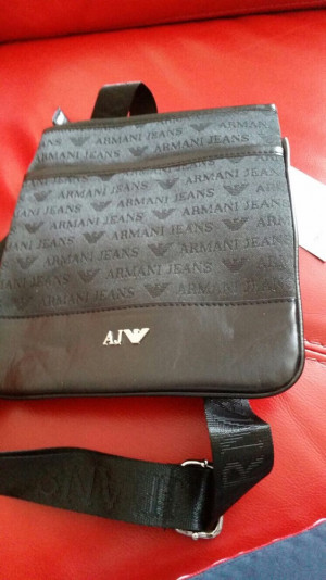 Mens Armani Jeans Pouch Side Bag Brand New
