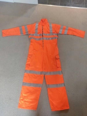 RAILSPEC COVERALL ORANGE BOILER SUIT