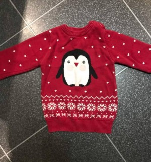 knitted penguin top