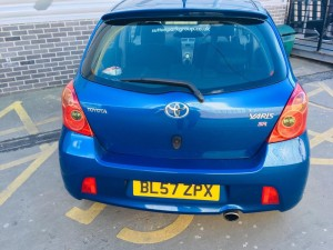 2008 BLUE TOYOTA YARIS 1.8 SR, LOW MILEAGE FULL SERVICE HISTORY.