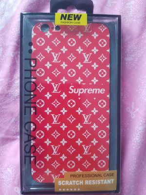 iPhone 6,7,8,9,X Plus - Silicone Soft Case - Scratch Resistant - LV design style