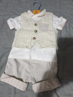 Waistcoat, shirt, trousers set 3 to 6 months