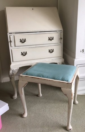 Vintage bureau with stool