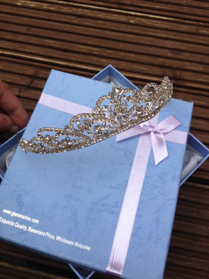 REDUCED! CRYSTAL BRIDAL TIARA