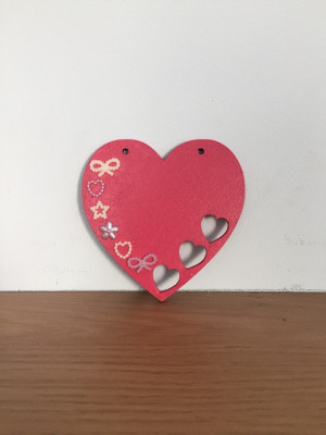 Hand Decorated wooden heart