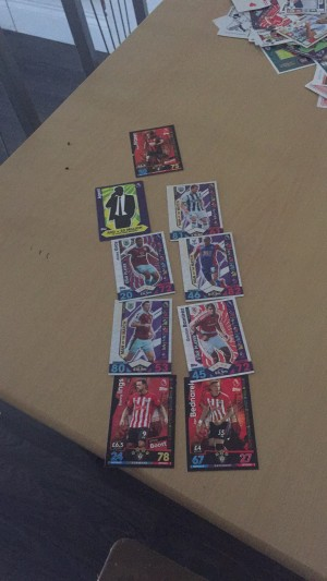 Man of the match cards and boost cards match attax