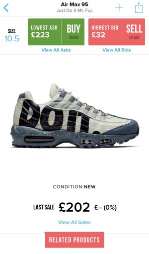 (Limited Edition) Air Max 95 Just Do it Mt.Fuji