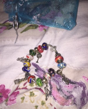 Charm bracelet (similar to pandora)  Worn once - kept in excellent con