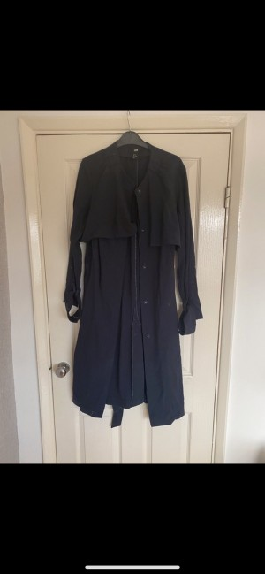 H&M navy blue trench size small