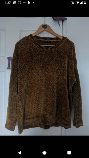 new look rust chenille jumper size 12