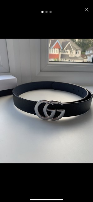 SILVER GUCCI BELT £10 LIKE NEW (NOT USED)