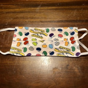 Back & Front Pleated Cotton Kid's Face Mask Covering Size Handmade w