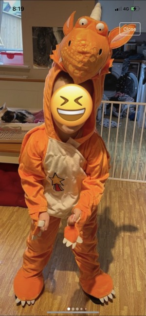 Official Zog costume outfit size 5-6 years