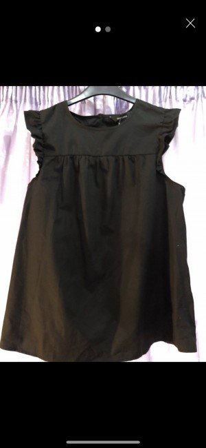 Black New Look top size 14