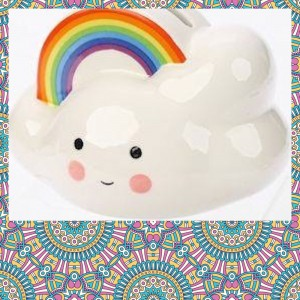 Kawaii Cloud and Rainbow Money Box