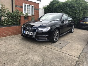 Hire this: Beautiful Audi A4 (B9) New shape!