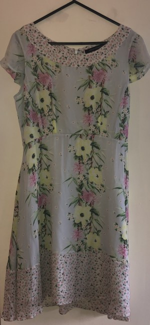 Flowery french connection dress