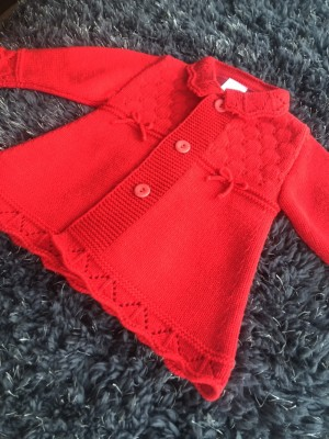 Baby girls red coat