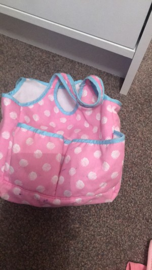 Baby doll nappy bag and baby born doll outfit