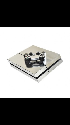PS4 silver skins x2
