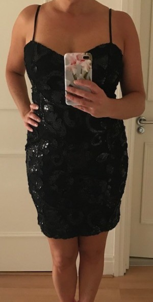 Sparkly LBD by Lipsy London - size 14