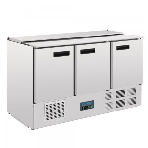 Polar Refrigerated Saladette Counter 368 Ltr