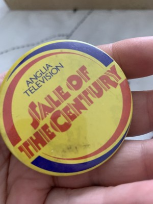 Anglia television sale of the century badge