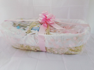 Ultimate baby shower Moses basket