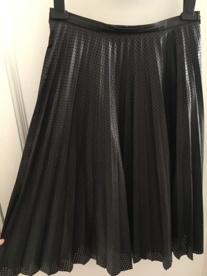 Zara leather pleat skirt