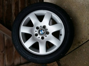 "3 BMW 16"" Alloys With good tyres"
